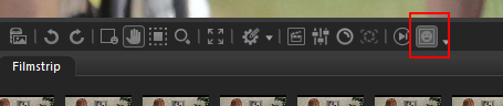 View mode toolbar, with Show Face Outlines button marked